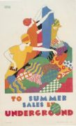 Vintage underground poster - Summer Sales London